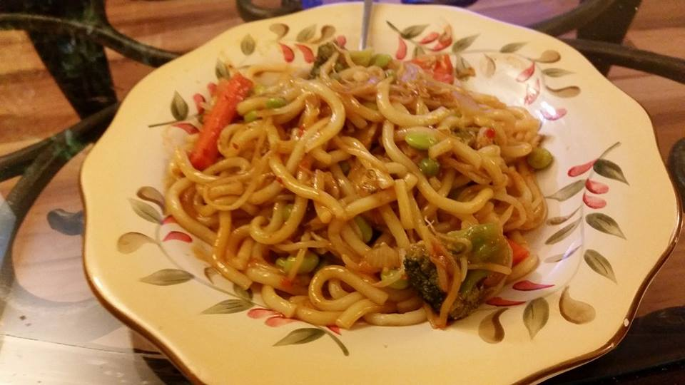 udon noodle stir fry vegan no oil