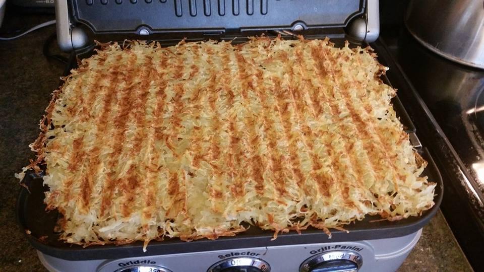 shredded hash brown omelette