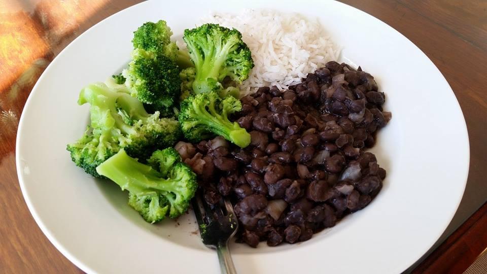 stewed black beans