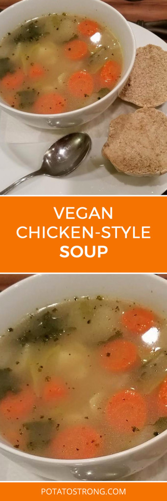Chicken-style soup vegan