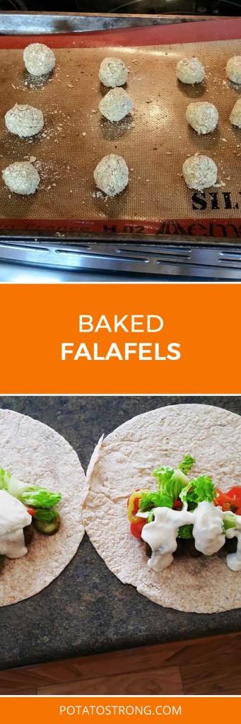 Baked falafels vegan no oil