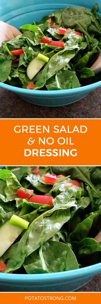 Green salad no oil dressing