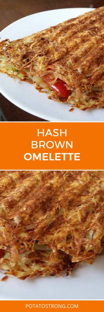Shredded hash brown omelette no oil vegan