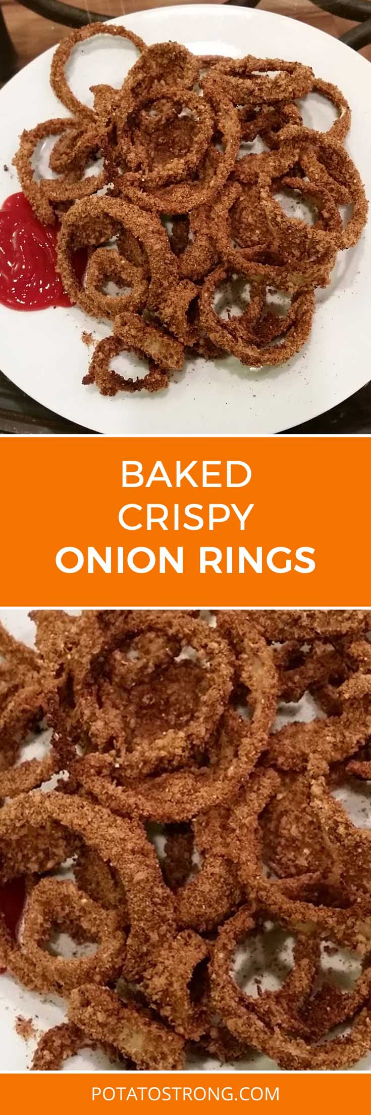 Baked, crispy no oil onion rings - Potato Strong