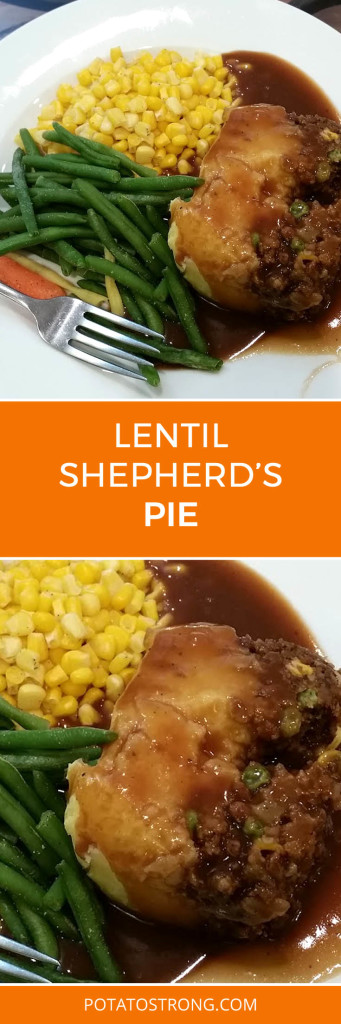 Lentil shepherd's pie vegan no oil