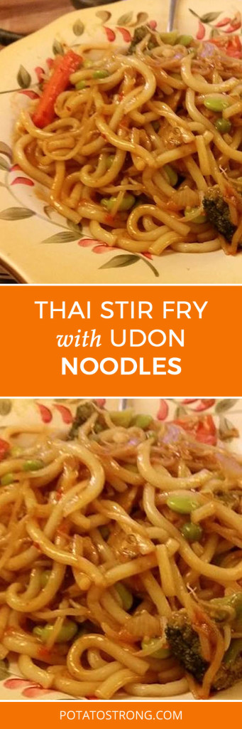 Thai stir fry udon noodles vegan no oil