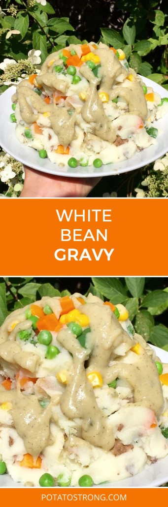 White bean gravy vegan no oil