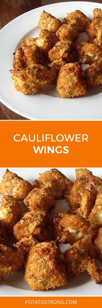 BBQ cauliflower wings no oil vegan