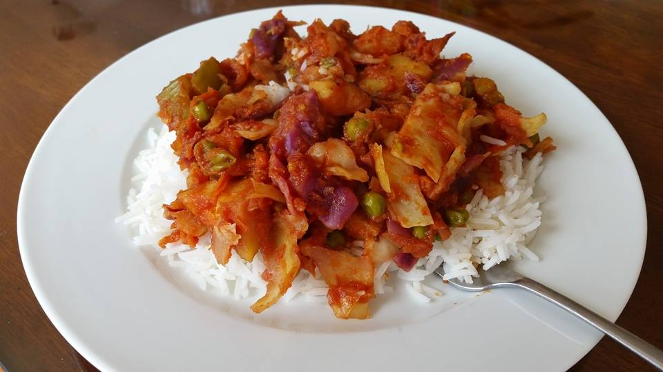 Red Cabbage Sabzi