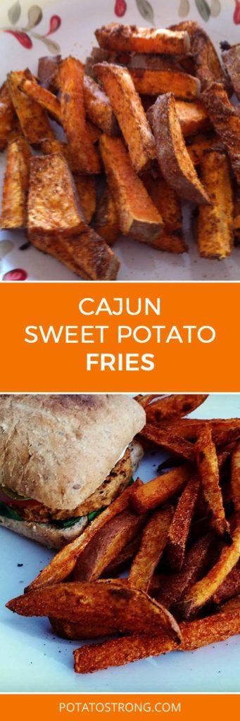 Cajun Sweet Potato Fries No Oil