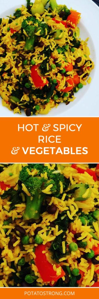 Spicy Rice and Vegetables Vegan No Oil